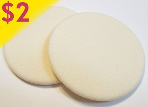 LATEX - FREE ROUND FLOCKED SPONGES - 2 PACK
