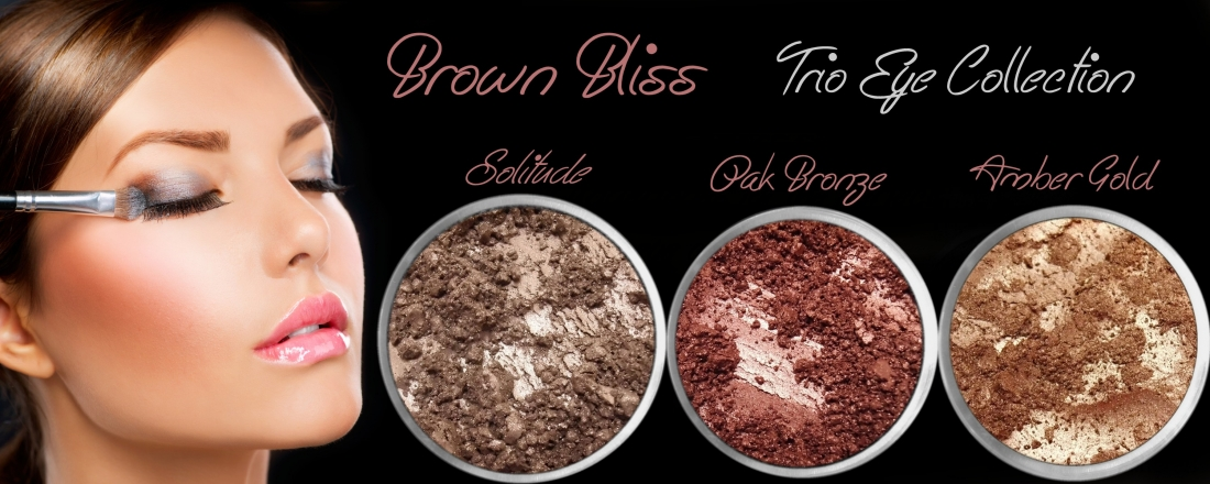 3 PIECE BROWN BLISS TRIO MINERAL EYE COLLECTION SET