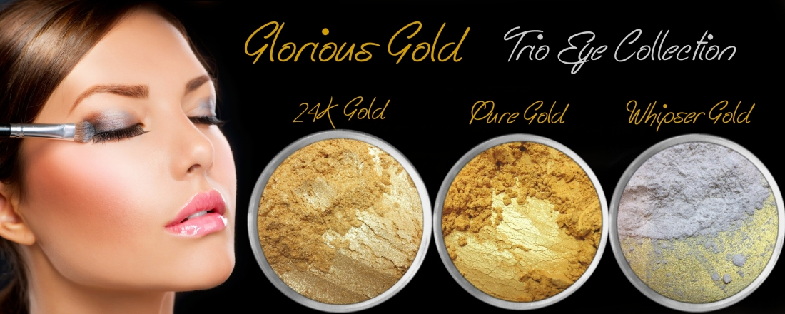 3 PIECE GLORIOUS GOLDS TRIO MINERAL EYE COLLECTION SET