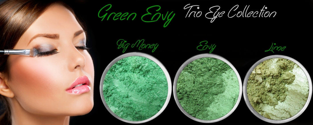 3 PIECE GREEN ENVY TRIO MINERAL EYE COLLECTION SET
