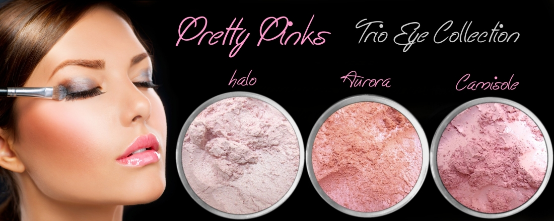 3 PIECE PRETTY PINKS TRIO MINERAL EYE COLLECTION SET