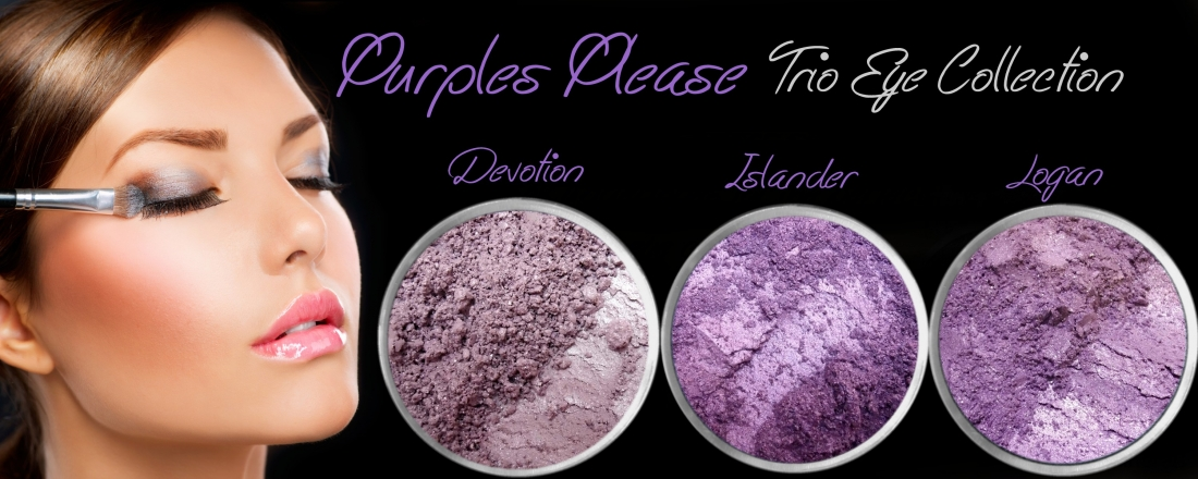 3 PIECE PURPLES PLEASE TRIO MINERAL EYE COLLECTION SET
