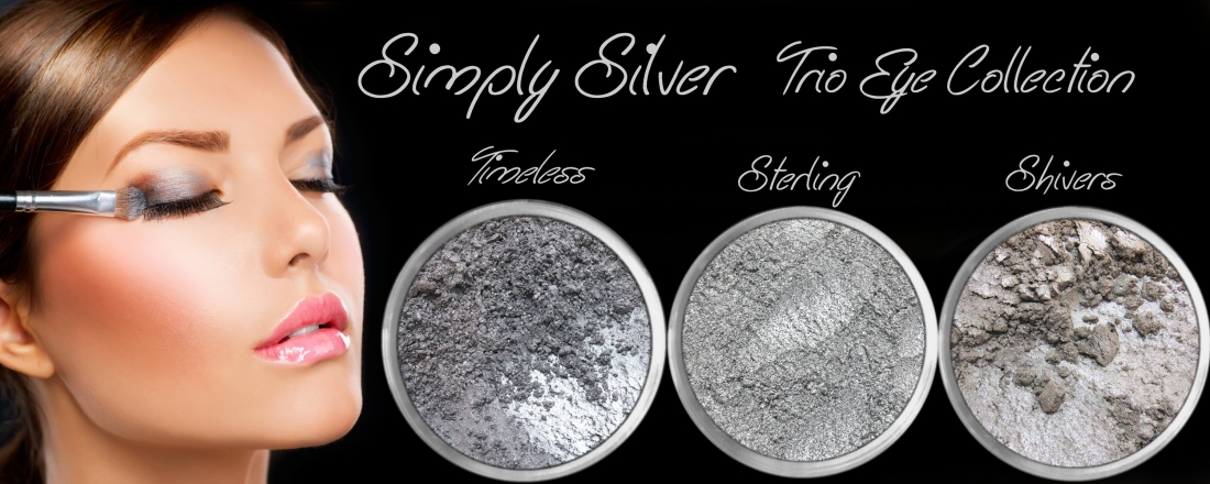 3 PIECE SIMPLY SILVER TRIO MINERAL EYE COLLECTION SET