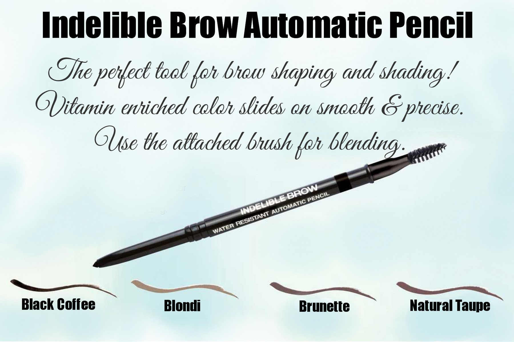 Pre-Order Indelible Brow Automatic Pencil with Blending Brush