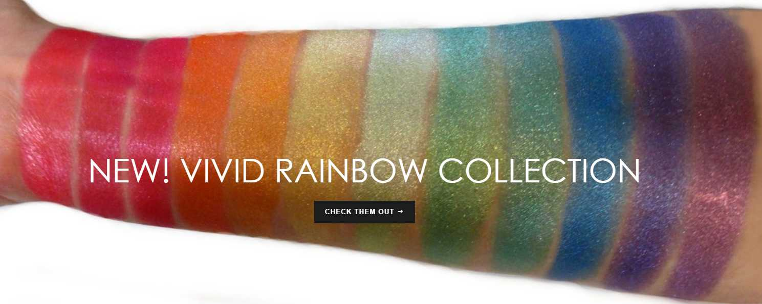 New Vivid Rainbow Mineral Colors Collection